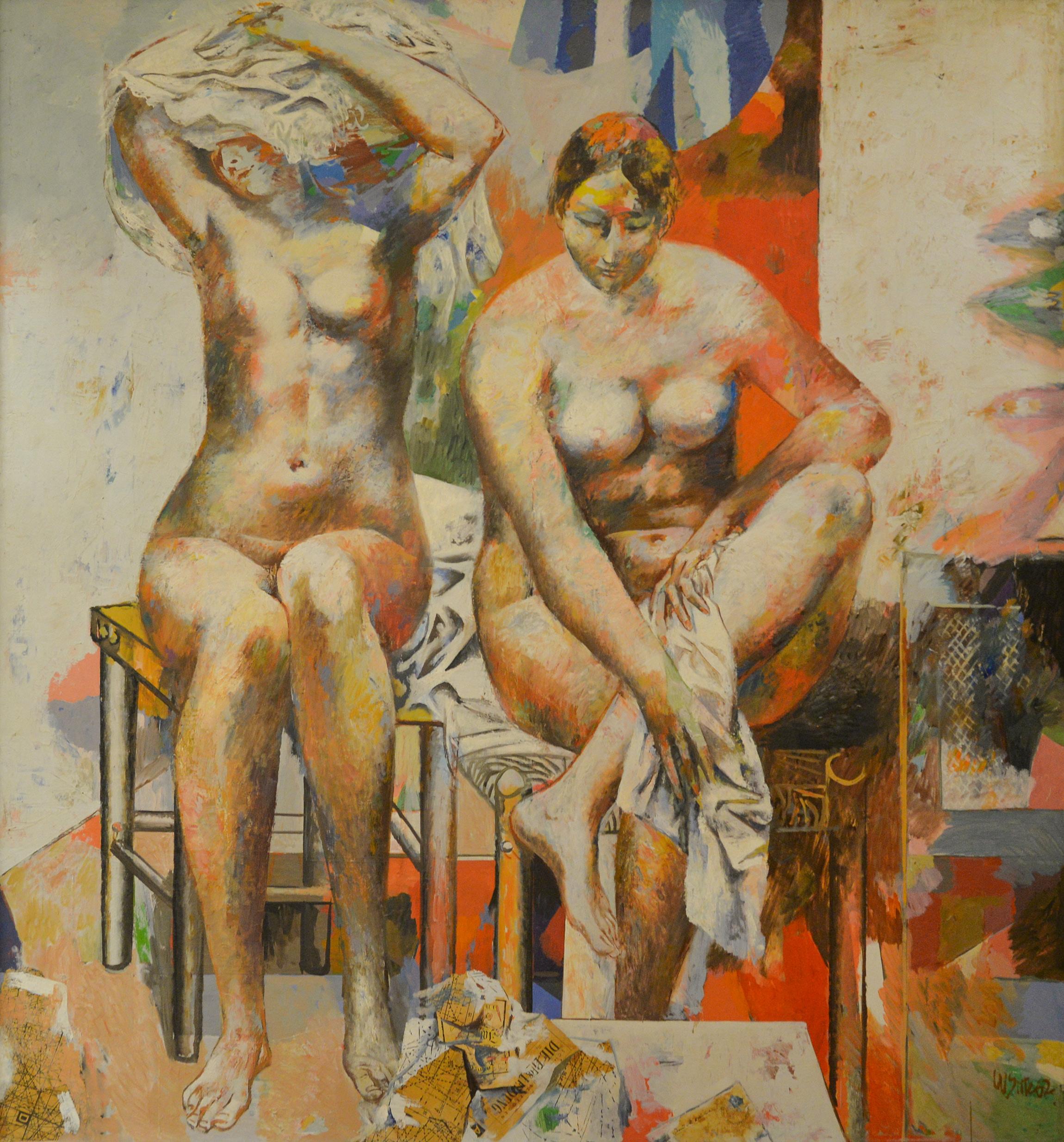 Willi Sitte, Zwei weibliche Akte, 1962
