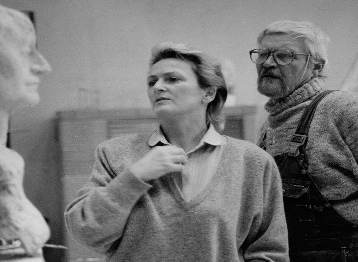 Inge und Jo Jastram, Kneese, um 1987, Foto: Helga Paris