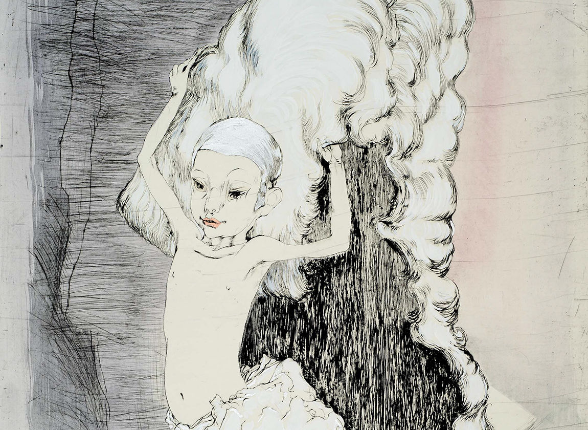 Inge Jastram, Knabe mit Perücke, (Ausschnitt), Foto © Robert Dämmig