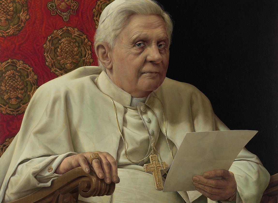 © Michael Triegel - Porträt Papst Benedikt XVI. (Ausschnitt)