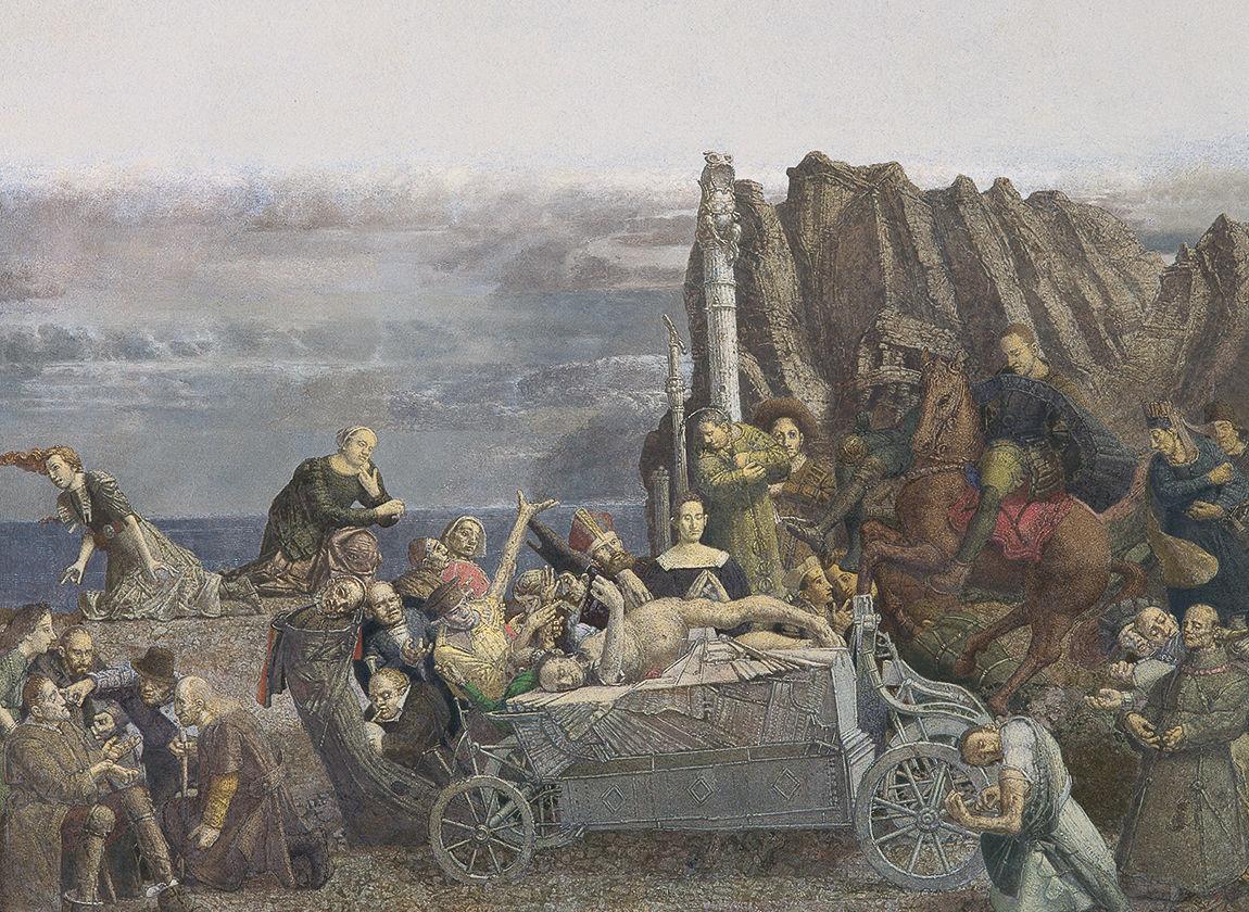 © Werner Tübke - Der alte Narr ist Tot (Ausschnitt)