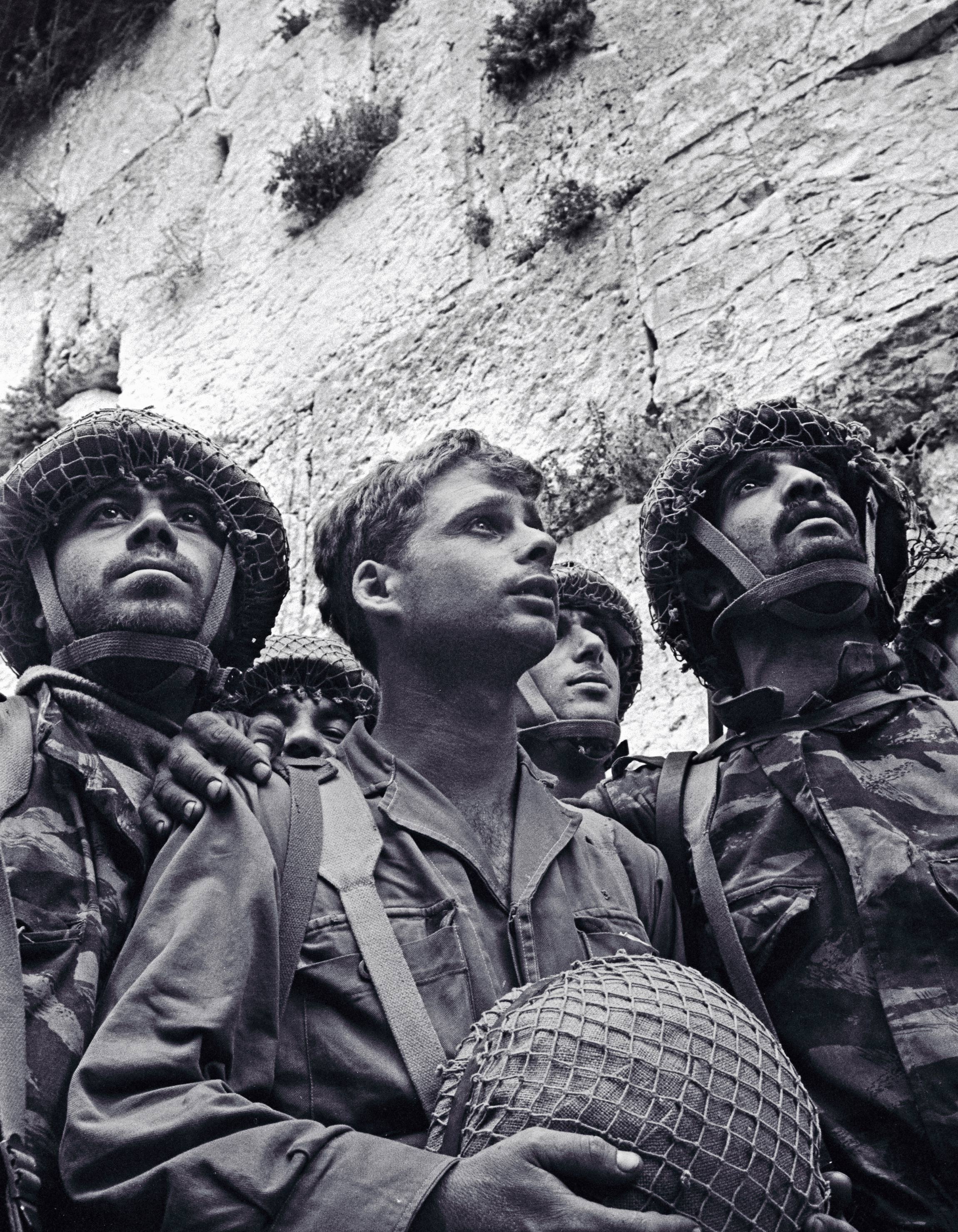 3 Paras, nach dem 6 Tage Krieg an der Klagemauer (1967), © Foto: David Rubinger