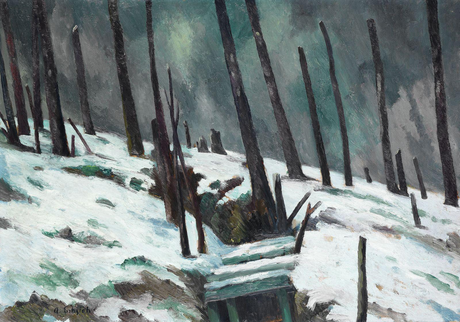 Adolf Erbslöh, Zerschossener Wald bei Verdun, Courtesy Stiftung Situation Kunst, © 2010 die jeweiligen Künstlerinnen und Künstler bzw. deren Rechtsnachfolger