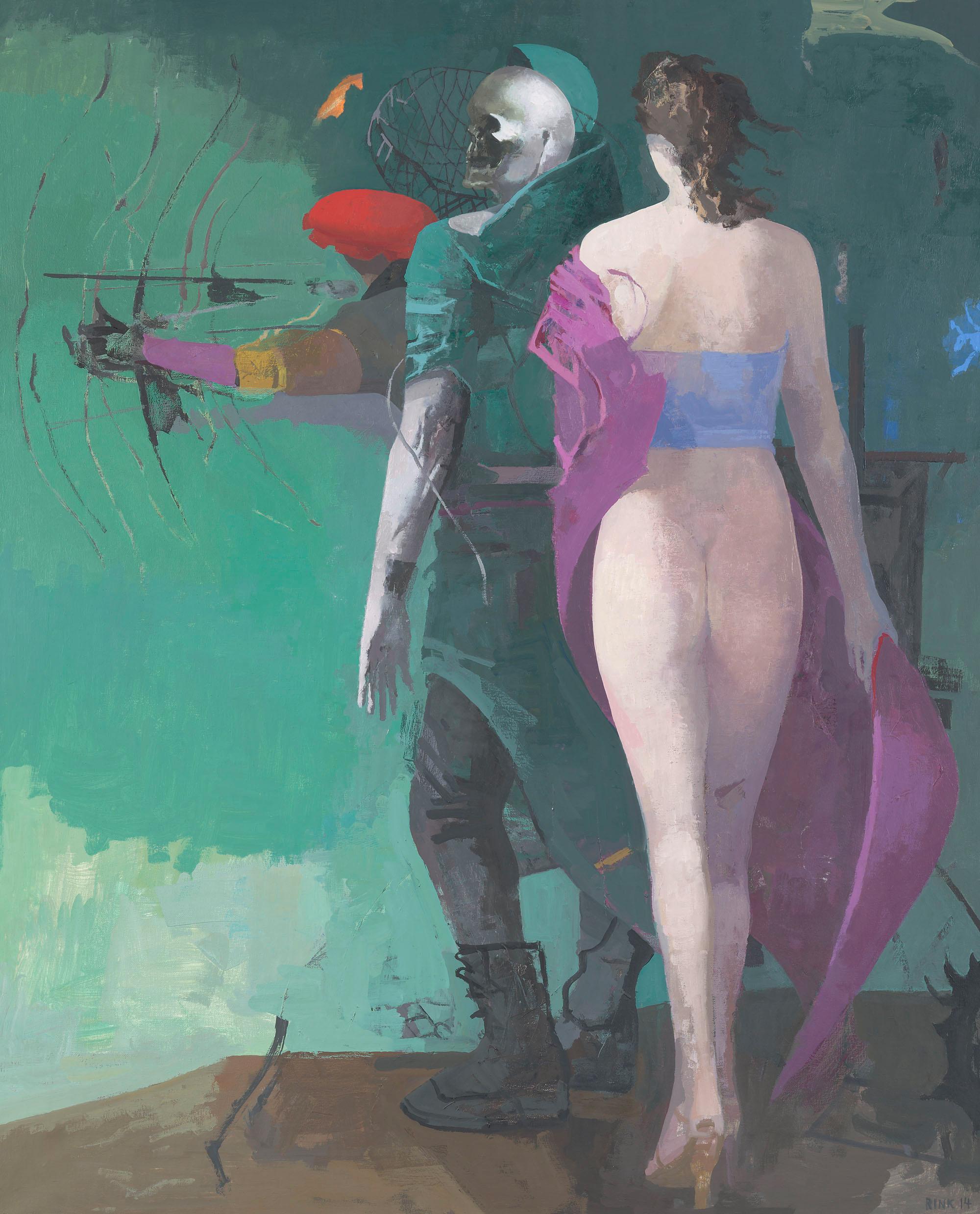 Arno Rink, Kleine Versuchung VI, © Galerie Schwind