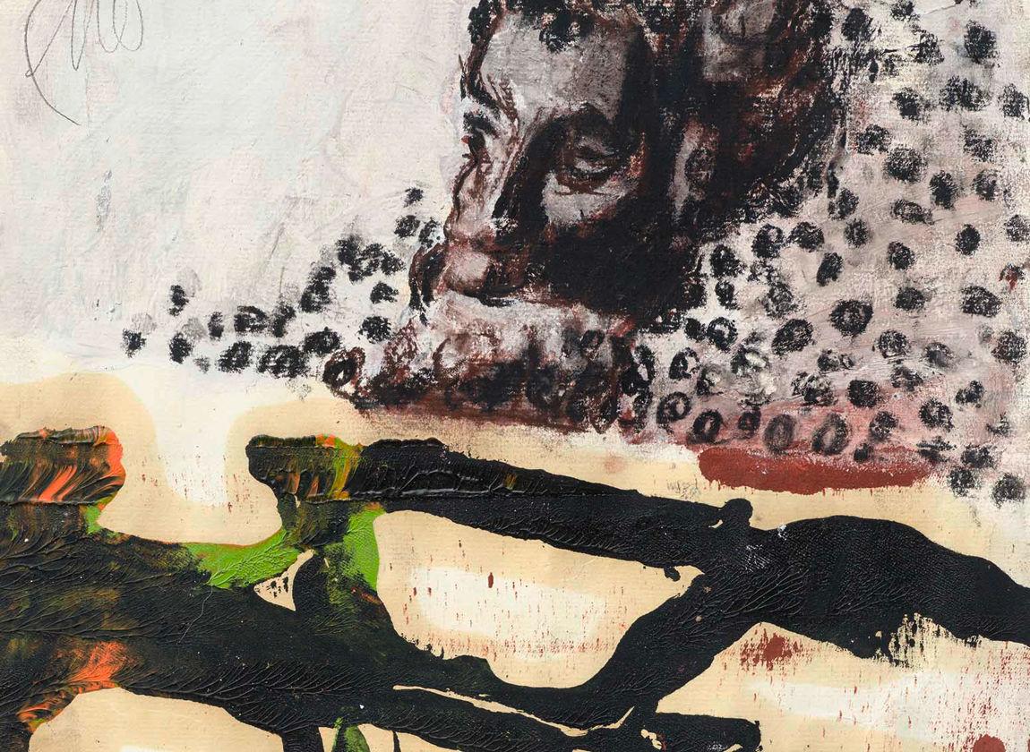 Markus Lüpertz, Ohne Titel (Apoll), 2015, (Ausschnitt)