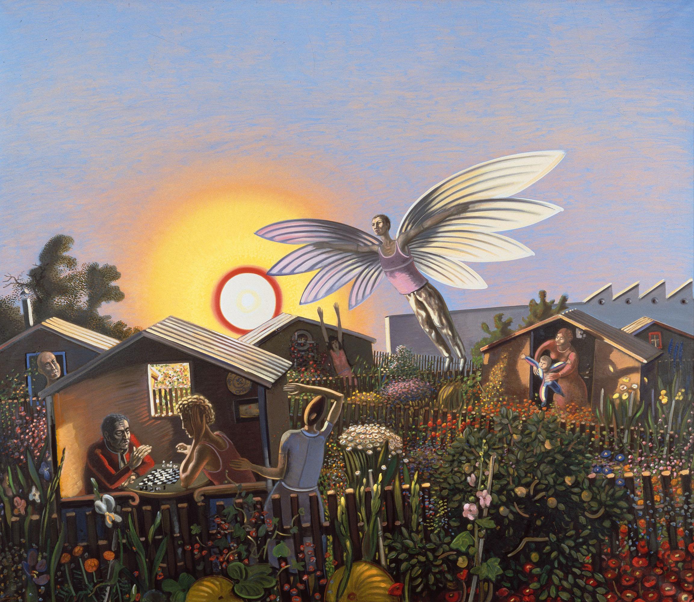Wolfgang Mattheuer Der Nachbar, der will fliegen 1984 (Ausschnitt)