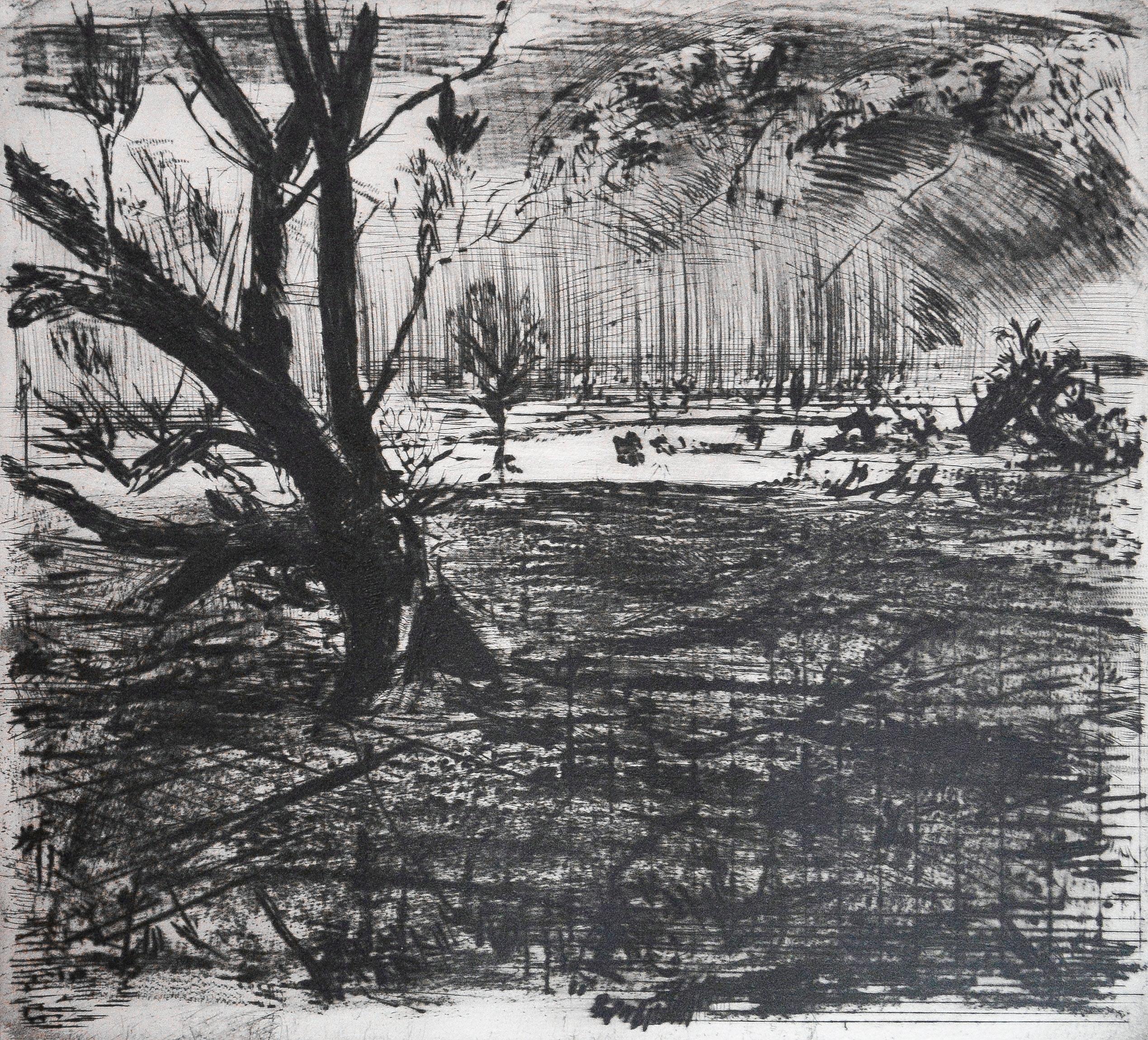 Sighard Gille, Grafik aus der Sammlung der Kunsthalle Rostock