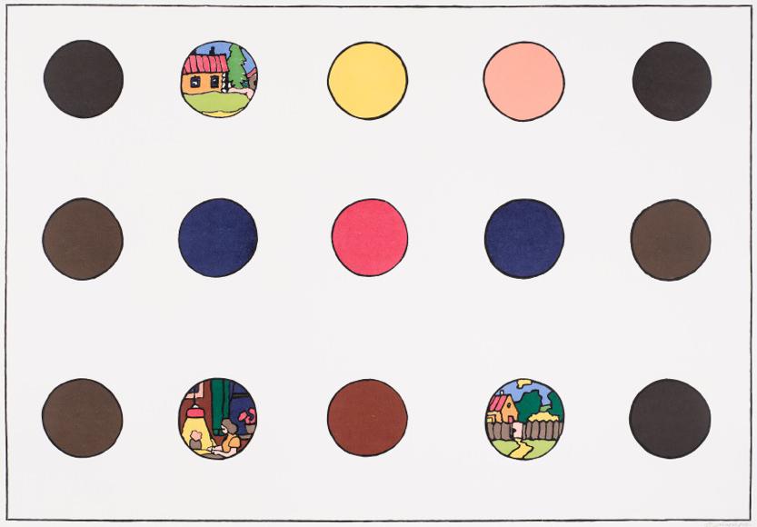 Ilya & Emilia Kabakov Print With Dots 2 2012 Auflage 12 Holzschnitt 138,0 x 190,0 cm (Blatt) courtesy Ilya & Emilia Kabakov und Mike Karstens Galerie © VG Bild-Kunst, Bonn 2018 Foto: Roman Mensing