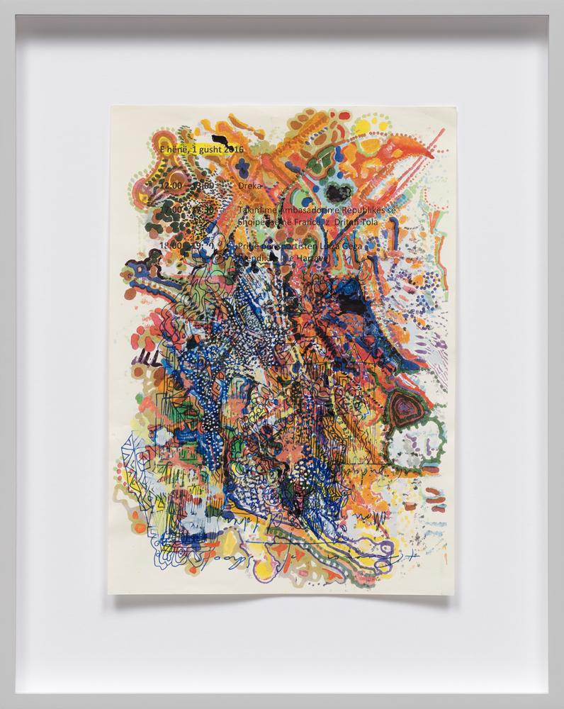 Edi Rama Untited (2075) 2018 mixed media 29,7 x 21 cm courtesy the artist and carlier | gebauer, Berlin