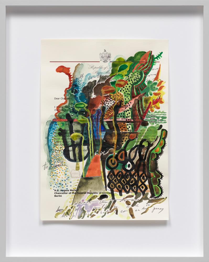 Edi Rama Untitled (2046) 2018 mixed media 29,7 x 21 cm courtesy the artist and carlier | gebauer, Berlin