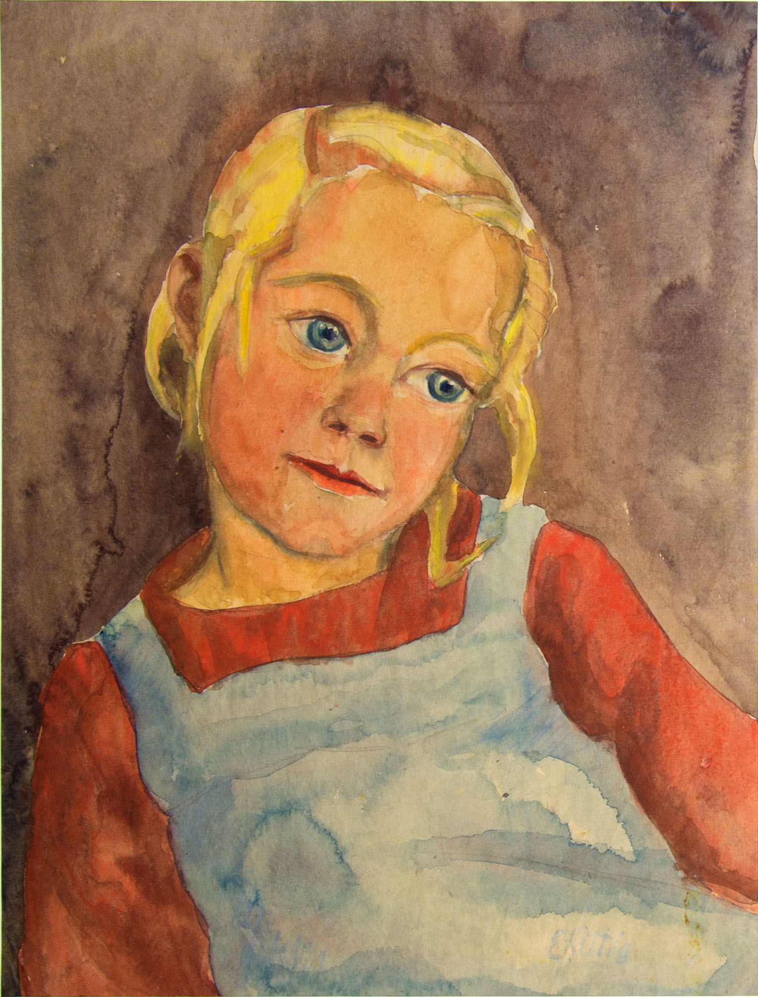 Träumender Blondschopf o. J. (1920er-Jahre) Aquarell auf Papier 49,0 x 37,5 cm