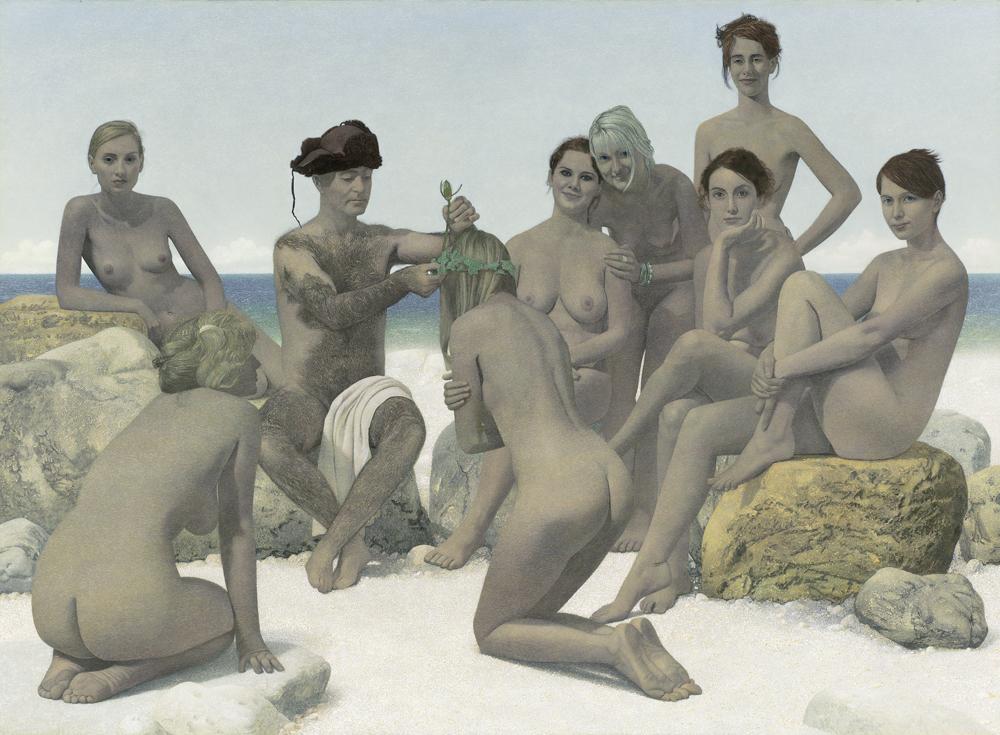 Erich Kissing, Sommertag 2007-09, Eitempera und Öl auf Leinwand 165 x 225 cm, © VG Bild-Kunst, Bonn 2018