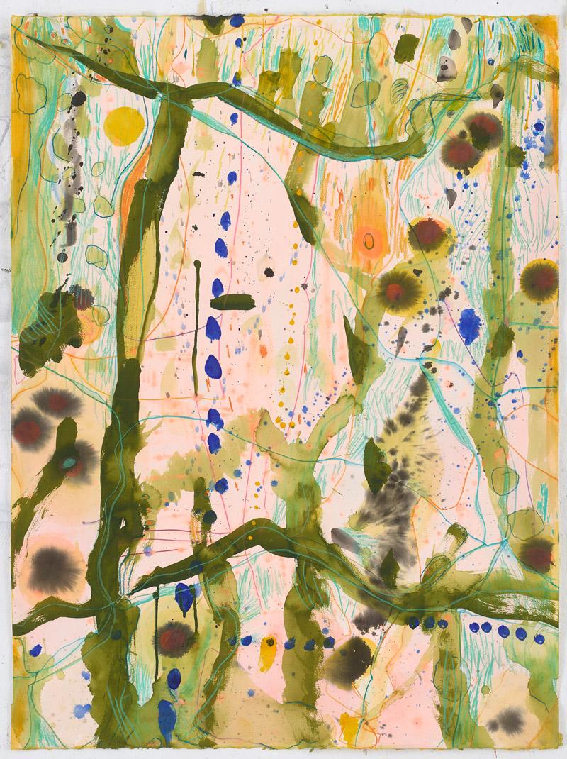 BieneFeld Werden 1 Tusch, Acryl, Farbstift auf Papier 114 x 85 cm 2018 Galerie Born Darß+Berlin