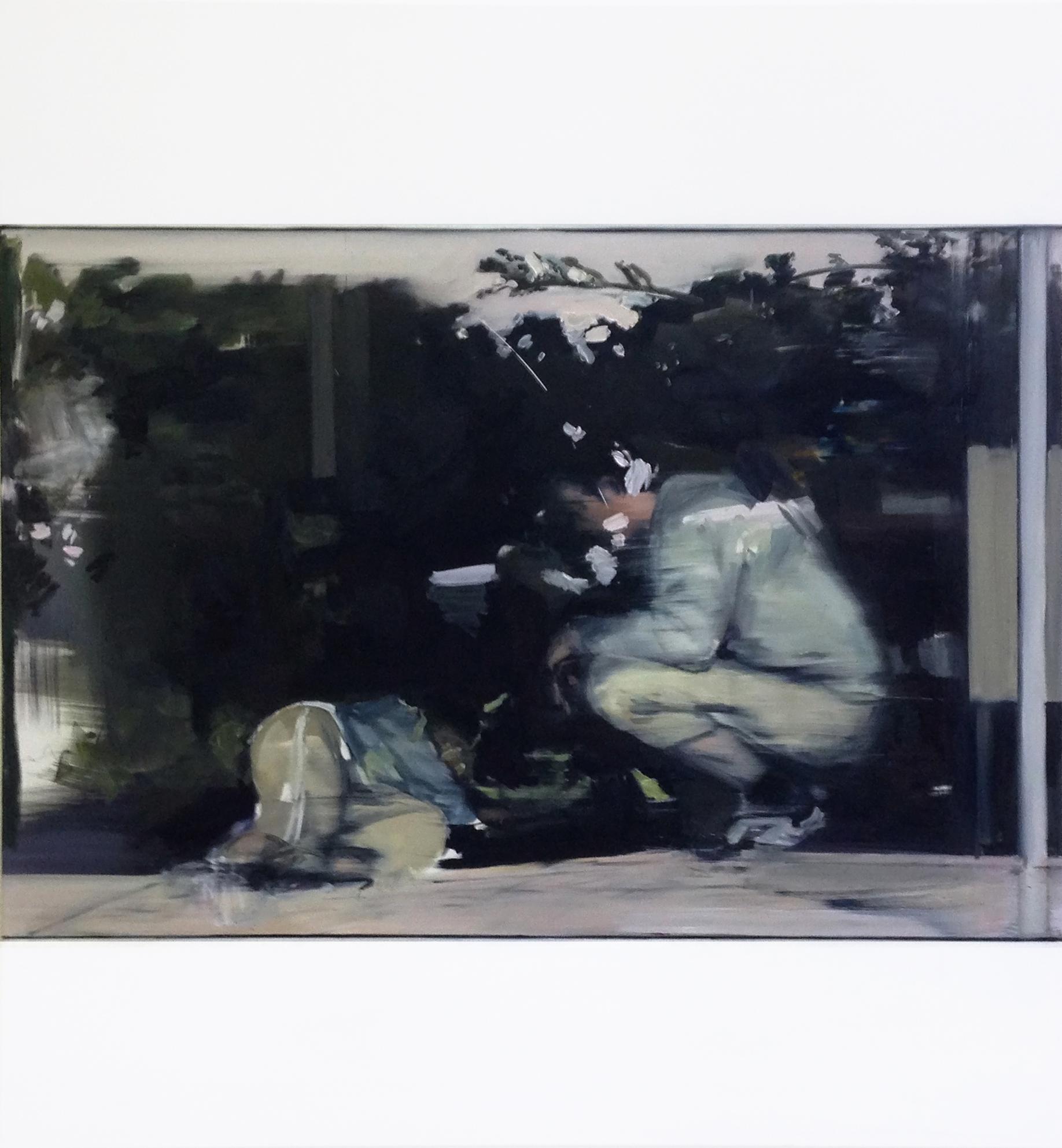 Gunnar Borbe couple II Öl auf Leinwand 210x190 cm 2017 Galerie A.G.