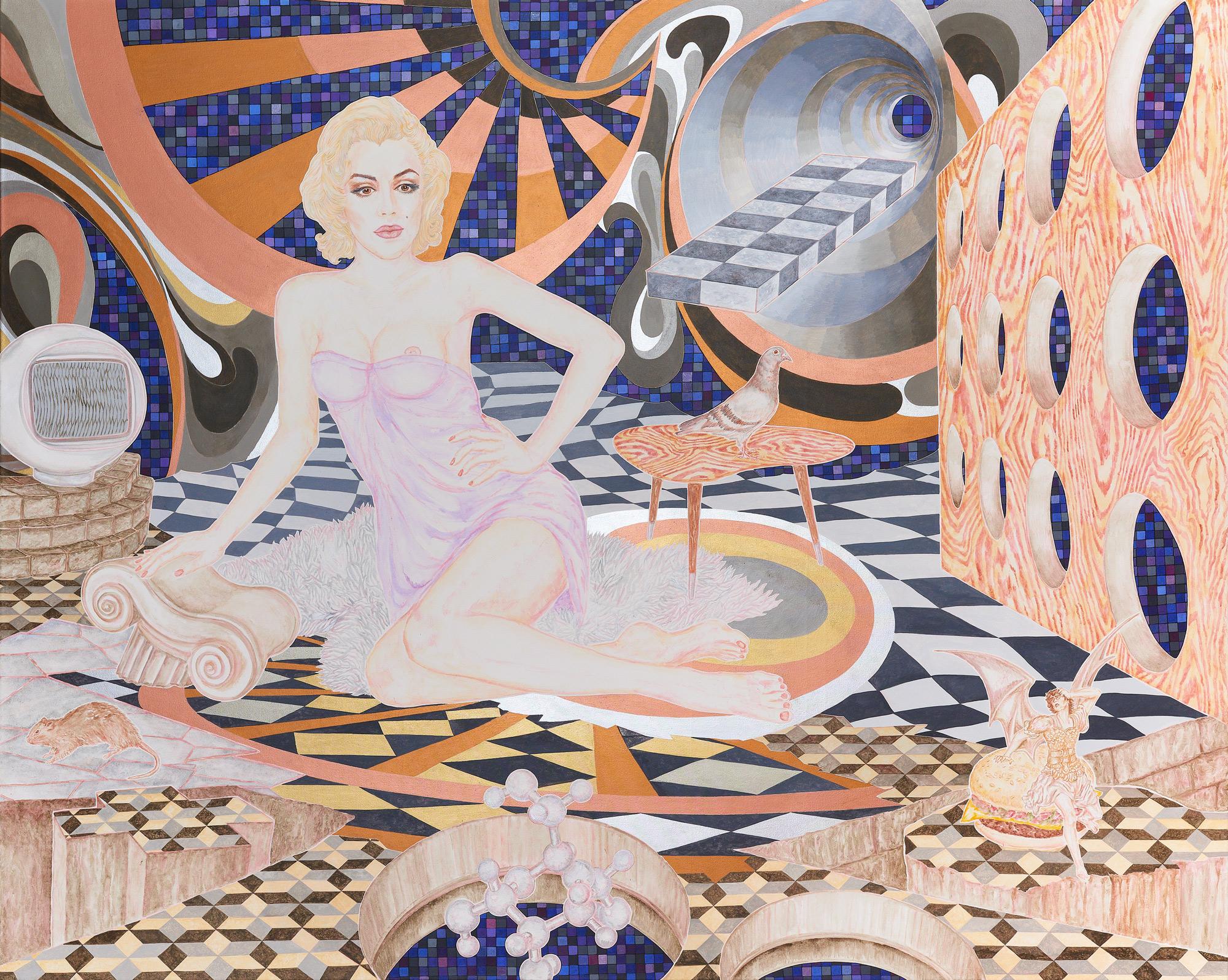 ABETZ & DRESCHER  Birthday 250 x 200 cm acrylic on canvas 2017