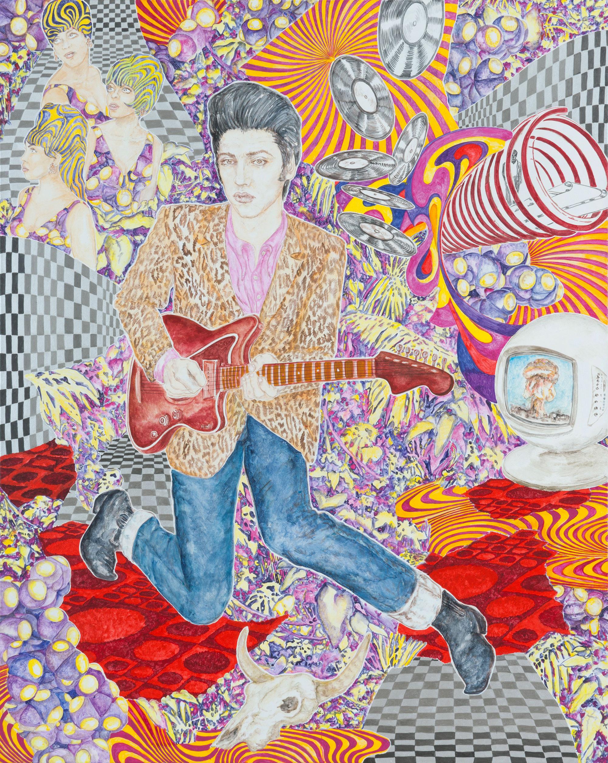 ABETZ & DRESCHER  Elvis Presley 200 x 160 cm acrylic on canvas 2011