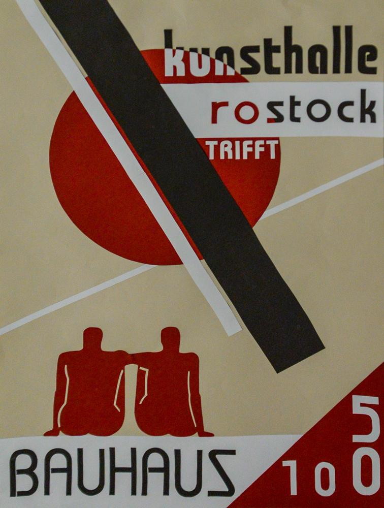 Sonderpreisgewinner  Plakatentwurf zum 50. Geburtstag der Kunsthalle Rostock von Yannah Schröder aus der 12. Klasse des Innerstädtischen Gymnasiums Rostock.