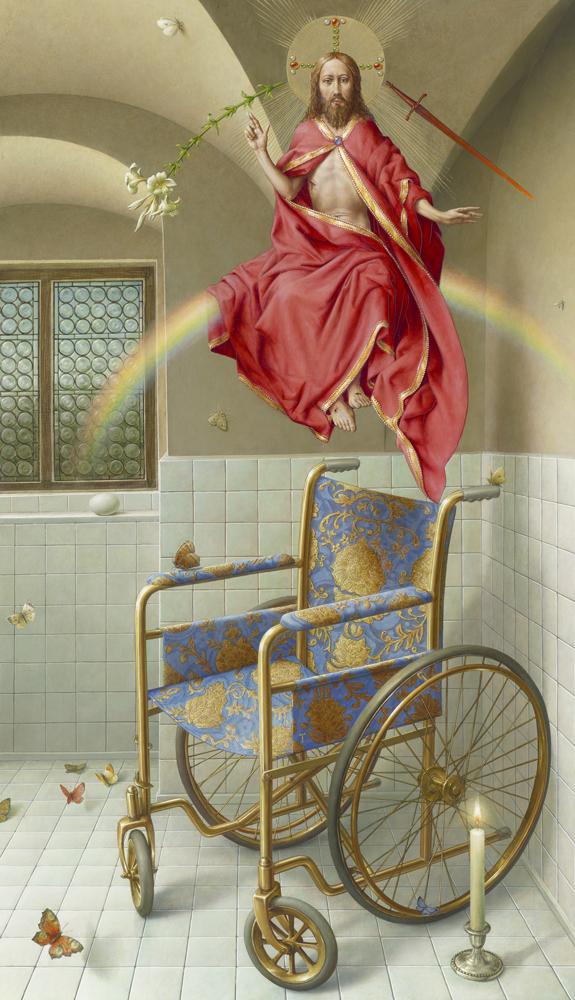 Michael Triegel, Imago 2019, Mischtechnik auf MDF 129,5 x 75 cm, Privatbesitz, Foto: Galerie Schwind  © VG Bild-Kunst, Bonn 2020