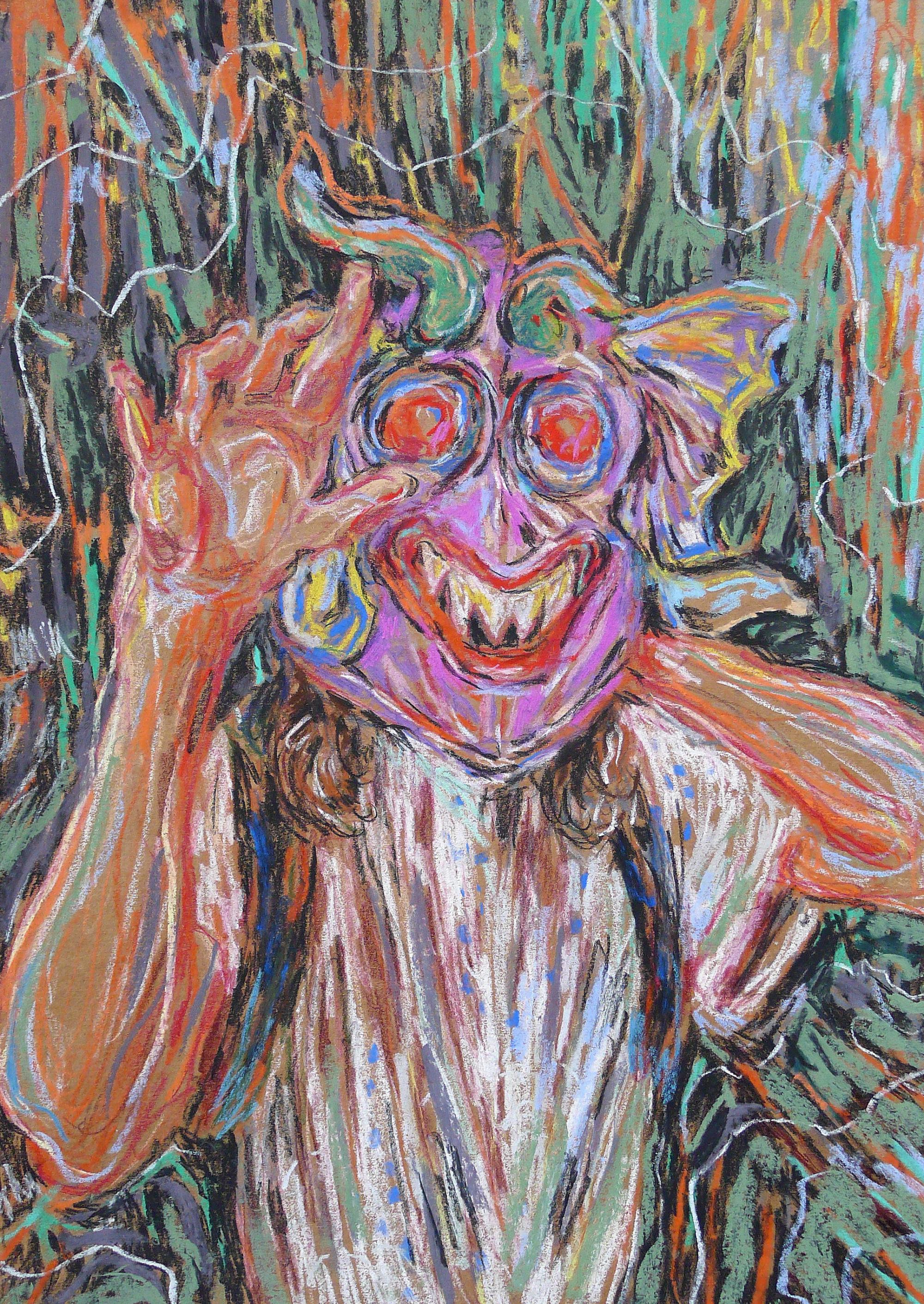 Ulrike Theusner Taylor with Mask, 2020 Pastel chalk on paper 50 × 34,7 cm Privatbesitz, Leipzig  courtesy Galerie EIGEN + ART Leipzig/Berlin